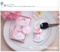 Wholesale DHL New arrival wedding favors Baby Shower Favors and Gift Cute Baby Themed Pink Key Chain Favors for girl
