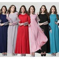 Wholesale 2016 summer Muslim long sleeve abaya islamic kaftan dubai Abra traditional nationality clothes sleeve decoration flash Sequins