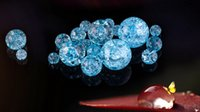 Wholesale 30pcs Ice blue crystal round loose beads fashion jewelry for bracelets MM to MM