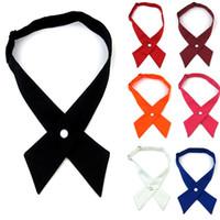 Wholesale Fashion Unisex Cross tie bowknot personality School bow tie cross buckle tie