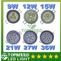 Wholesale Led Ceiling Light W W W W W W Led CREE Resessed downlight spotlight Lamp AC V Led spot Down Lighting Driver