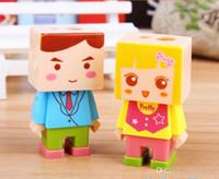 Wholesale Cute Pencil Sharpener eraser set toy pencil cutter boy girl school stationery stuff office funny supplies desktop gadgets