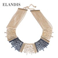 collar necklace - new arrival short necklace for women Gold plated bead necklace metal texture collar necklace multilevel chain statement necklaces NL12952