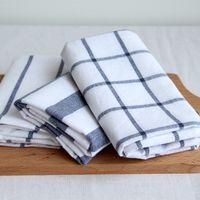Wholesale Classic striped plaid placemat napkin to wipe bowl towel tea towel tea cover tablecloths flag cotton insulation pads shooting ba
