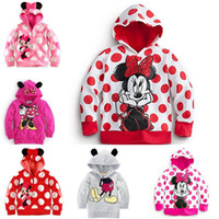 Wholesale IMVATION New Arrival Minnie Mickey Hoodie Jacket Hooded Top Shirt Outwear Coat Gifts For Baby Girls
