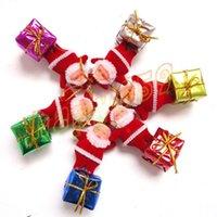 Wholesale free ship Christmas tree decorations Santa Claus pendant Father Christmas hanging ornaments Xmas Kriss Kringle decorative pendant set