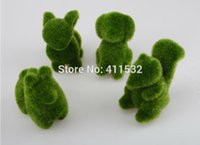 Wholesale 4pcs Artificial grass Turf small cute animals toy decorations grass land Reduce the eye fatigue chrismas decor