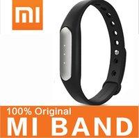 Wholesale 100 Original Xiaomi MI band MiBand Bracelet IP67 Waterproof Smart band Wristbands for Android Phones MI3 MI4 MIUI Wearable Tracker