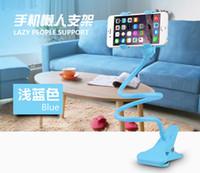 Wholesale Rotating Flexible lazy bed holder desktop tablet car Long Arm holder stand selfie mount bracket for iphone Plus for samsung