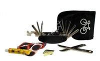 Wholesale Bike Bicycle Tyre Repairing Tool Set Kit Multifunctional Easy Portable Convenient