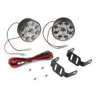 Wholesale pair W LED DRL Lamp Light Flood Beam Off road led drl daytime running light car styling Car Truck Boat New