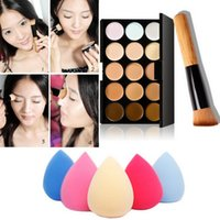 Wholesale Makeup Makeup Sets New Set Colors Makeup Concealer Palette Cream With Sponge Puff Powder Makeup Brush Maquillaje BSEL