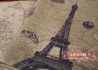 big love wallpaper - 20 set retro kraft paper gift wrap paper wallpaper big love Eiffel Tower gift wrapping paper