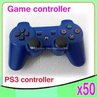 Wholesale Wireless Bluetooth Game Controller Gamepad for PlayStation PS3 Game Controller Joystick for Android video games colors av ZY PS