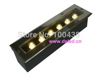 aluminum linear - CE IP67 good quality Linear W LED underground light DS W Strong Aluminum fitting tempered glass V VAC