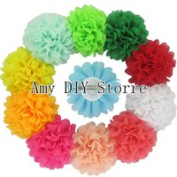 alternative hair styling - EMS Fashion Style Boutique Alternative Chiffon Hair Flowers WITH Clip Baby Girls Hair Accessories