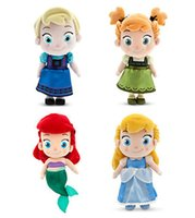 Wholesale Toddler Ariel Cinderella Plush Doll Elsa Anna Plush Doll cm quot Toy Birthday Gift