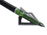 Wholesale 6pcs Blade hunting broadheads Green Fixed Arrowheads