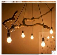 Wholesale 2015 Featured DIY nostalgia hanging branches Mucha Lighting Accessories E27 heat lamp chandelier line
