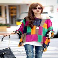 Cheap Fashion Women Lady Bohemian Batwing Dolman Sleeve Chiffon Shirt Top Oversized Blouse Free Shipping