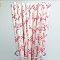 baby girl shower pop - 200pcs Star Crown Hot Pink Princess Paper Straws Baby Bridal Shower Party Girl Birthday Vintage Cake Pop Sticks