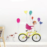 bicycle wallpaper - wall stickers home decor The new large scale wall stickers living room TV sofa backdrop bedroom wall stickers wallpaper bicycle travel JM711