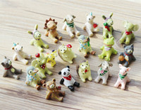 Wholesale 20 designs animals dog bear Hedgehog fairy garden miniatures dolls gnome moss terrarium decor resin crafts bonsai home decor for DIY Zakka