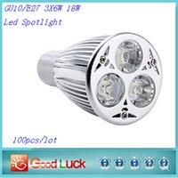 Wholesale 2015 x High Power GU10 E27 X6W W Led Spotlight Energy Saving Led Light V V Dimmable Downlight CE UL Warranty Year