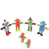 assembly robot - 4pcs Set Wooden Robot Toy Can do Gymnastic Action Assembly by Elastic Cord Best Gift for Babies and Kids