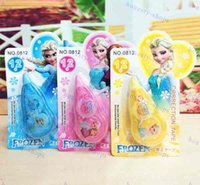 Wholesale Cute correction tapes M student Frozen Elsa Anna Cartoon correction supplies novelty gift colors