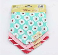 baby smock - Crtartu Baby Towel Triangle Cute Cotton Toddler Newborn Feeding Smock Infant BB Bibs Burp Cloths Free DHL Facotry Direct