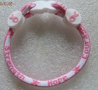Cheap cancer breast bracelet Best cancer ribbon bracelet