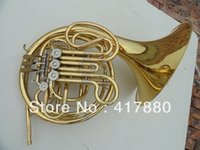 Wholesale one horn double row key single French horn FB key French horn with case surface gold