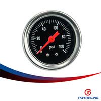 Wholesale PQY RACING Fuel Pressure Gauge Liquid psi Oil Pressure Gauge Fuel Gauge Black Face PQY OG33BK