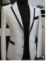 Cheap 2014 mens wedding suits for groom tuxedos white wool grooms wear two piece suit free shipping