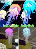 Wholesale Indoor Custom RGB Lighting Inflatable m Jellyfish for Party Event Decoration