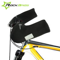 animal handlebars - Rockbros Warm Winter Cycling Gloves Windproof Waterproof Mountain Road Bike Bicycle Handlebar Gloves Free Size Cycling Mittens