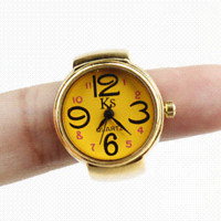watch face for beading - New Arrival Gold Ring Watch Women Finger Watches Ladies Casual Whatch Dropshipping watch hat watch face for beading