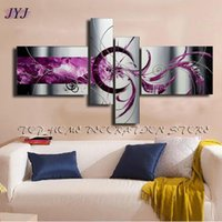 baroque style painting - Thick Textured Baroque Style Handmade Modern Abstract Oil Painting Canvas Wall Art For Living Room Home Decoration JYJHS153
