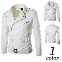 leather jackets for men - Boutique Jackets for mens white British men s tide washed leather motorcycle leather jackets Y018