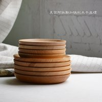 cake plates - The Wooden Plates Fashion Cooking Tools Wooden Dinnerware Cake Dishes Spruce Plates Burlywood Diameter cm