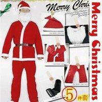 Wholesale 5 in Santa Claus clothes Men s clothing Christmas Plush Adult Christmas Costume set