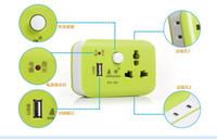 Wholesale Universal Smart Power Plug With USB Charger Input AC160 V A USB Output DC5V A