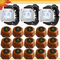 Can show 3 group call number in one time ab k - Watch wrist call system Waiter calling Service system K plus alphanumeric pagers with K AB single key buzzer for cafe house