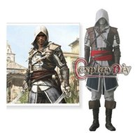Wholesale Assassin s Creed IV Black Flag Edward Kenway Costume custom made Adult kids Game Cosplay Costume