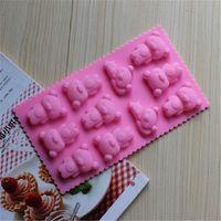 Wholesale Practical Bears Baking Mold Bear Cake Molds Chocolate Moulds Bakeware Supplies DG024
