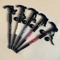 aluminum crutches - Outdoor camping supplies T handle crutches four telescopic aluminum trekking poles
