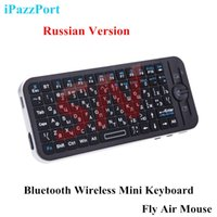 apple mouse sale - New Fire Sale Russian Version iPazzPort Bluetooth Wireless Mini Keyboard Fly Air Mouse Remote with Case for Apple TV Box