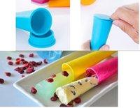 al por mayor moldes de paleta de hielo-Colorido de silicona empuja hacia arriba el helado de la jalea del estallido del polo fabricante Popsicle del molde del molde 300pcs DHL libres