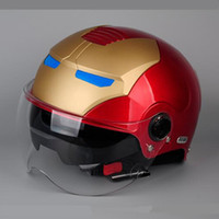 Wholesale capacete casco IRONMAN Protective Gears child star Mary Iron Man open face motorcycle helmet vespa harley half face helmet